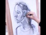 Аналитический рисунок - Портрет набросок 1