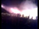 Грузинские РСЗО ведут массированный обстрел территории Южной Осетии (8 августа 2008 года)