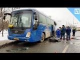 Автобус со школьниками загорелся в  Москве