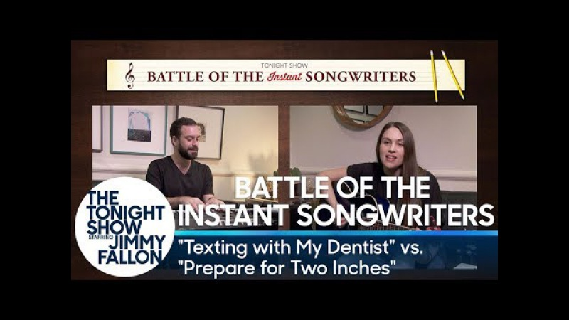 Battle of the Instant Songwriters: Texting with My Dentist vs. Prepare for Two Inches
