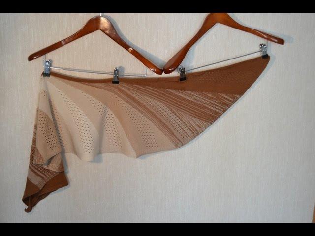 Shawl Alba, machine knitting pattern