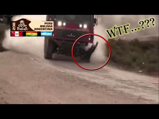 Camion loco corre sin llanta Dakar 2018 | crazy truck runs without rim the bust best momments Dakar