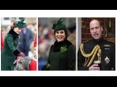 EMERALD DUCHESS THE DUKE AND DUCHESS OF CAMBRIDGE ATTENDED THE IRISH GUARDS ST PATRICK'S DAY