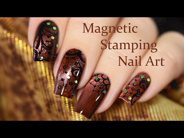 Magnetic Stamping Nail Art / Стемпинг на магнитном лаке