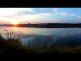 река Ока ,закат таймлапс