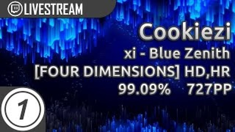 Cookiezi | xi - Blue Zenith [FOUR DIMENSIONS] HD,HR 99.09% 2364/2402x 2x miss 727pp 1 | Livestream