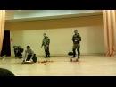 Показательное выступление разведчиков 217-го полка ВДВ в Кинешме