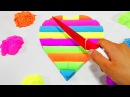 DIY How to make Kinetic Sand Cake Rainbow Heart Mad Matter Skwooshi Learn Colors