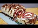 Бисквитный Рулет ЧЁРНЫЙ ЛЕС Новый Рецепт Бисквита для Рулета Biscuit roll Black Forest