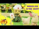 Kids Cartoon 2016 Rabbit Story Episode 20 WHICH JOB IS THE BEST POMPOM4kids