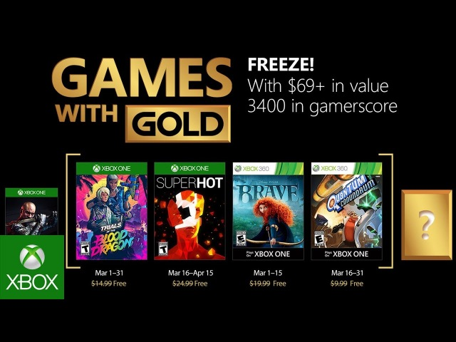 Xbox Live Gold Март 2018 - March 2018 Games with Gold