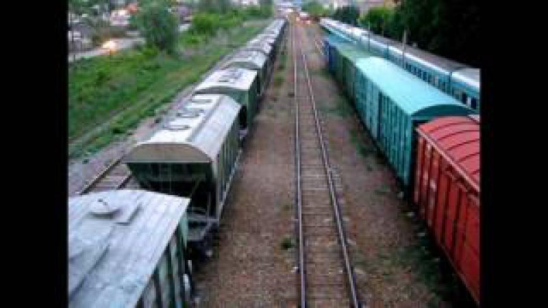 ТЭ33А 0234 Тулпар Тальго Алматы Защита, ТЭ33А 127 с грузовым поездом Усть Каменого ...