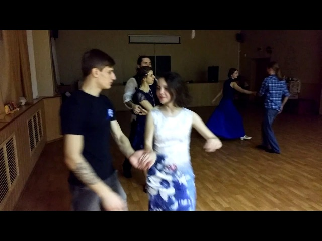 Cross step walse 1 Blues party 03 02 18