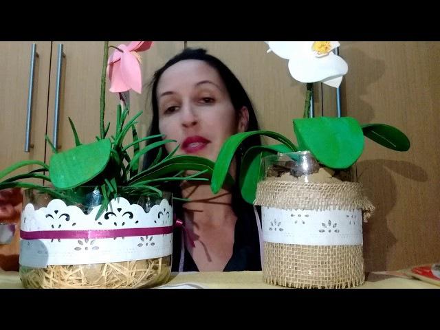 Orquídea de eva sem frisador parte1