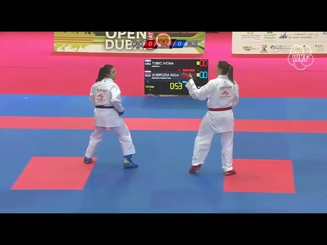 Ивона Тубич (Хорватия) - Инга Шерозия (Россия) Karate1 Premier League Dubai 2018