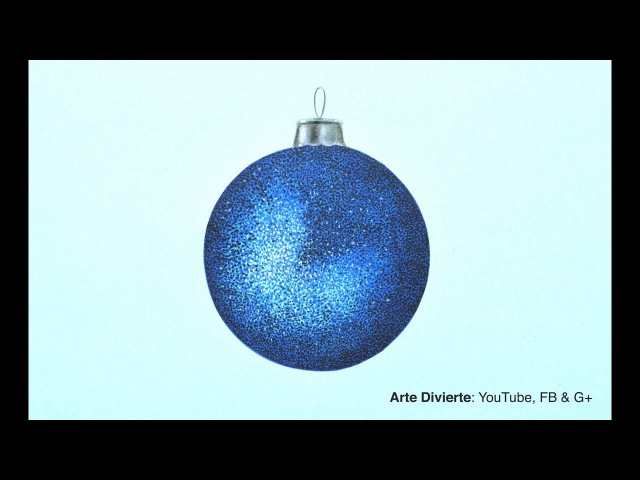 Cómo dibujar una esfera navideña con textura - Narrado