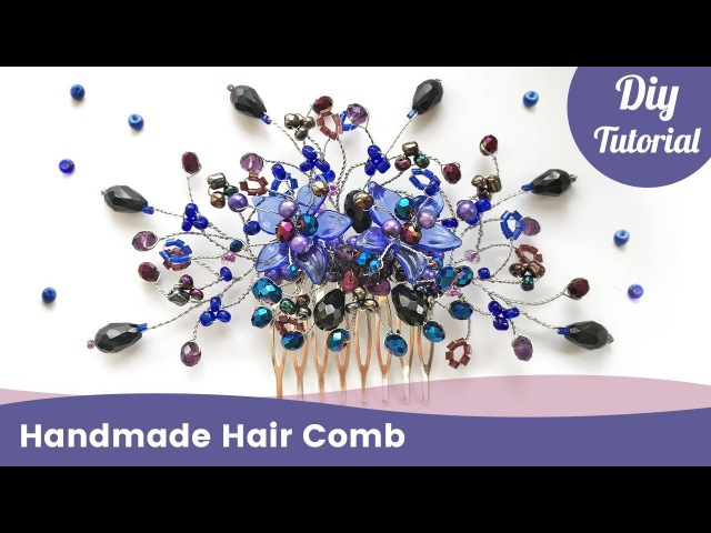 How to Make Handmade Hair Comb. Easy DIY Jewelry Ideas