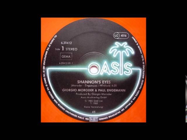 Giorgio Moroder Paul Engemann – Shannon's Eyes (12 Inch Version)