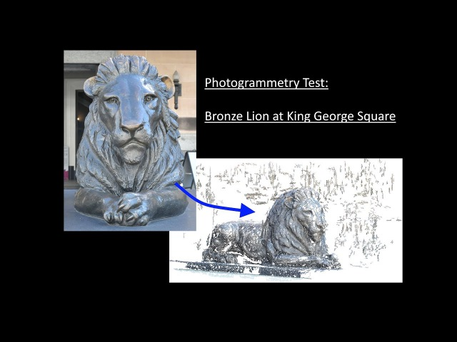 Photogrammetry Test Bronze Lion at King George Square