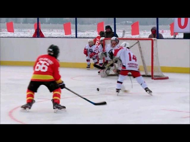 Российские любительские команды похоккею обыграли китайских спортсменов вма...
