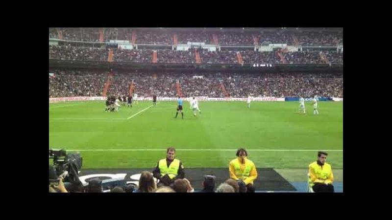 Cristiano Ronaldo gol live Bernabeu free kick