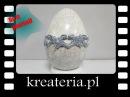 Jajo wielkanocne Crackle i StoneArt Powertex efekt porcelany i kamienia KreaCraftShow46