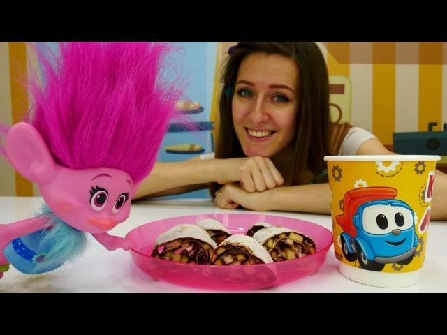 Un Desayuno delicioso para Poppy. Cocina para niños.