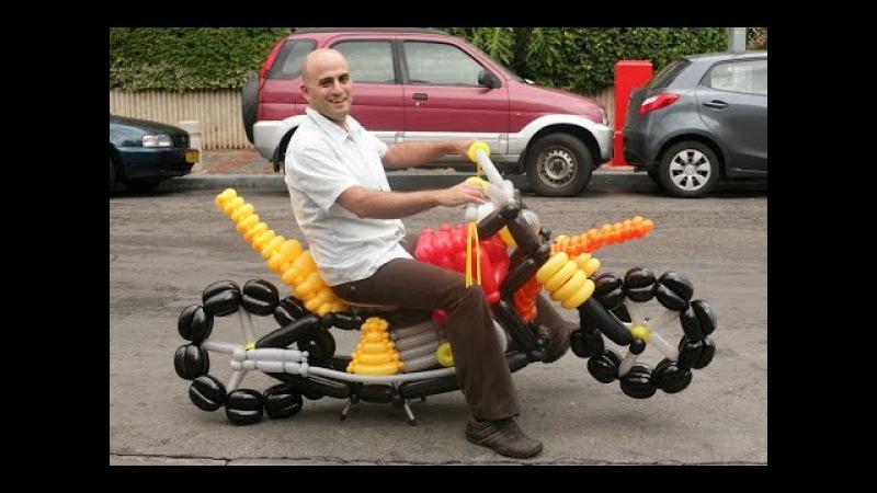 How to make a balloon motorcycle by Barak Dagan ברק דגן