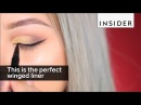 This makeup artist applies a perfect cat eye in seconds
