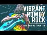 Rowdy Hard Rock  Guitar Backing Track in G#