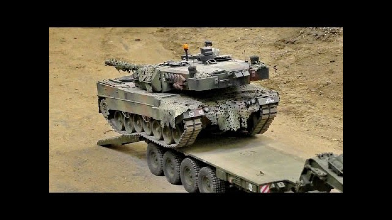 RC SCALE MILITARY VEHICLES IN ACTION / Intermodellbau Dortmund 2016