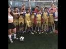 Kız erkek kapışması futbol dersi