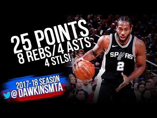 Kawhi Leonard Full Highlights 2018.01.02 at Knicks - 25 Pts, 8 Rebs, 4 Asts, 4 Stls!