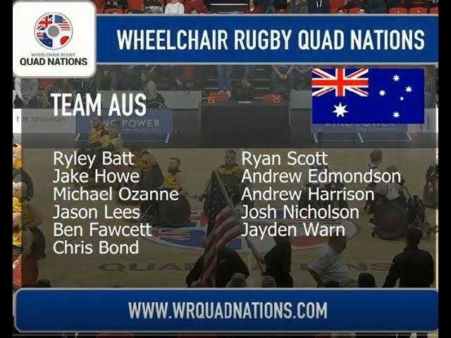 WHEELCHAIR RUGBY QUAD NATIONS USA-AUS 2018.03.11
