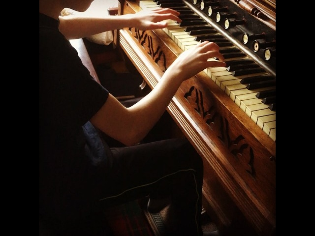 """11 03 18 Jenny Bruce on Instagram: """"My Pittsburgh grandparents bought this organ from a neighbor, if I remember the story correctly. Family legend has it th..."""