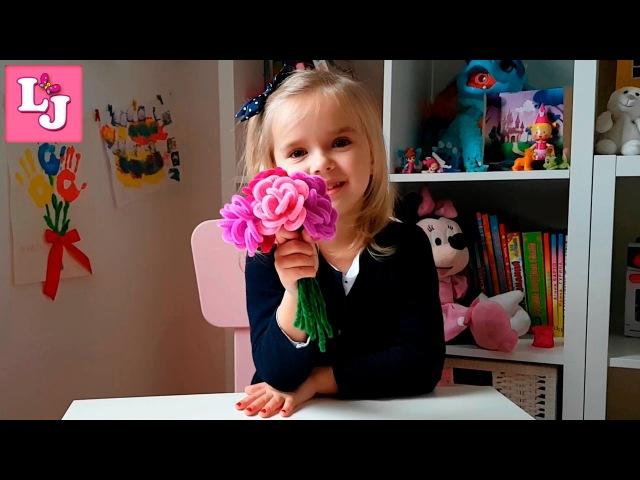 🌸 🌹 🌺ПОДАРОК на 8 Марта СВОИМИ РУКАМИ│Букет роз│Поделки с детьми│Manualidades DIA de la MADRE
