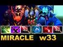 Miracle SF first 9k MMR vs TOP 1 EU MMR w33 Storm EPIC Battle Dota 2