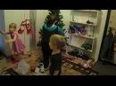 Дети наряжают елку. Ускоренный вариант