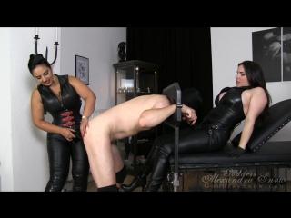 Goddess Alexandra Snow & Mistress Ezada - Dirty Slut Double Fuck [Femdom, Strapon, Pegging, 1080p]