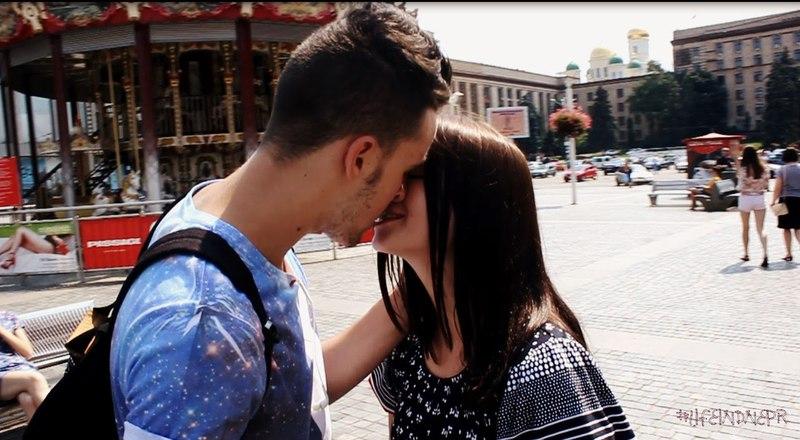 Как поцеловать девушку/Kiss prank 2 l LifeInDnepr*