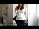 Как женщина убирала свой дряблый живот специальным поясом