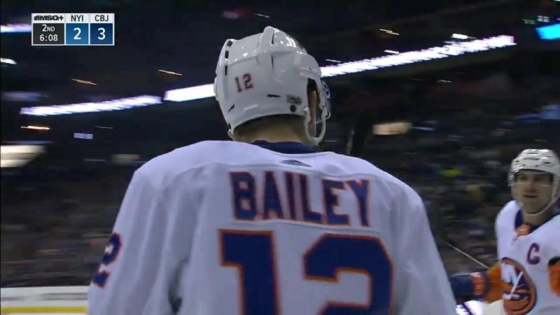 Bailey picks up first career hat trick as Islanders mount comeback