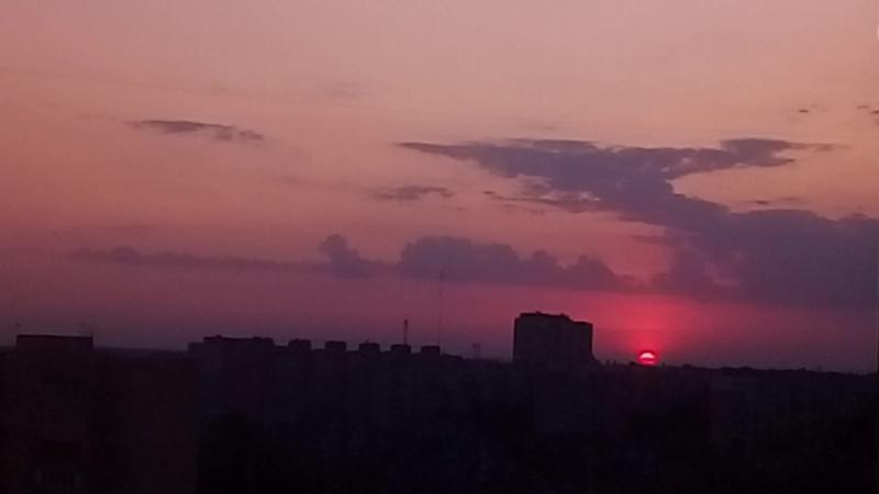 20.08.2017 время 05:18 Рассвет г.Долгопрудный Московская обл.