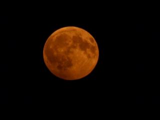 Лунное частное затмение  в Самаре
