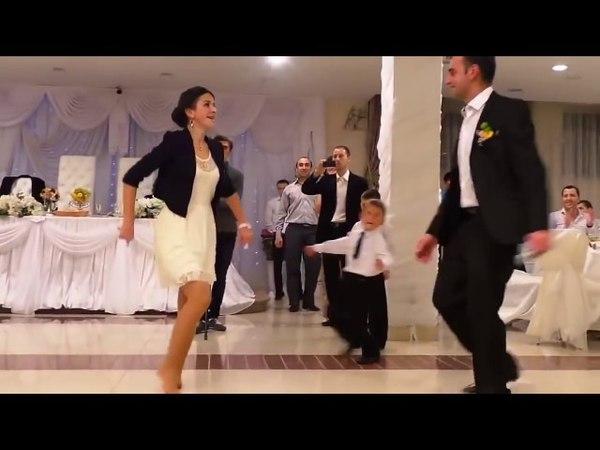 Самый быстрый танец - лезгинка на грузинской свадьбе
