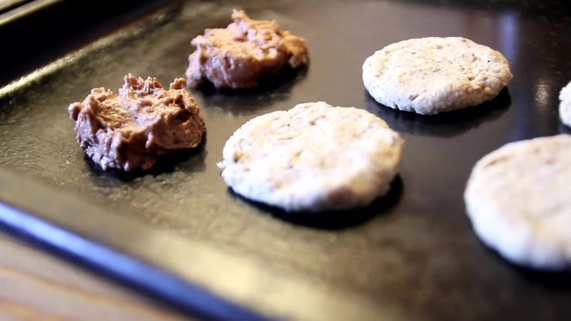 Рецепт простых рисовых веганских печенюшек. Без глютена
