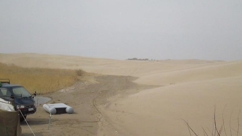 деревянное озеро. Песчанная буря