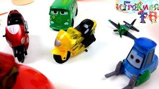 Игрушки для самых маленьких тачки и самолетики/ яйцо сюрприз с машинками и самолетиками