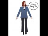 Karen Elson in Paperdolls One Pant, Five Looks!