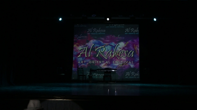 Osama Mimi Farag dancing street shaabi on gala-show of AL RAKESA Festival 2018